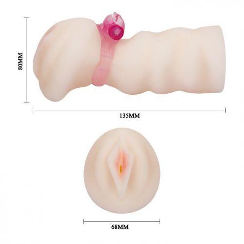 Вагина-мастурбатор с виброкольцом 3D BM-009132H