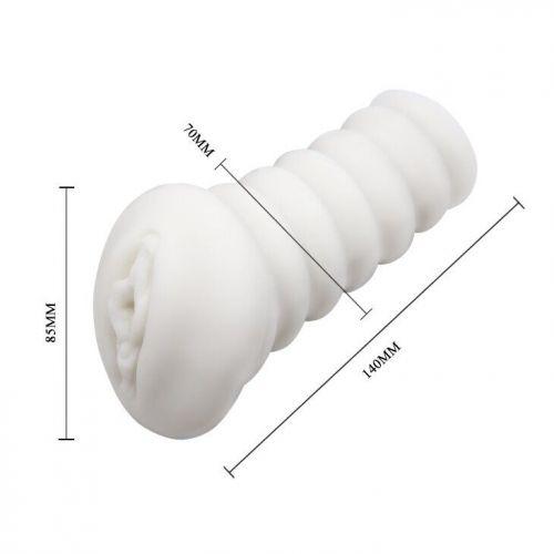 Мастурбатор-вагина с вибрацией LYBAIlE белый