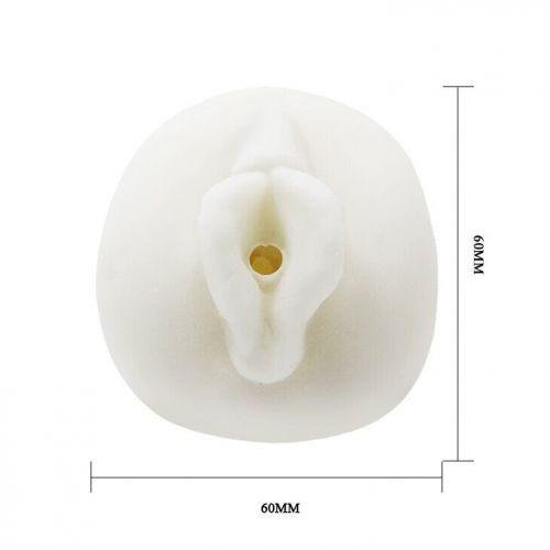 Мастурбатор-вагина с вибрацией белый BM-009158