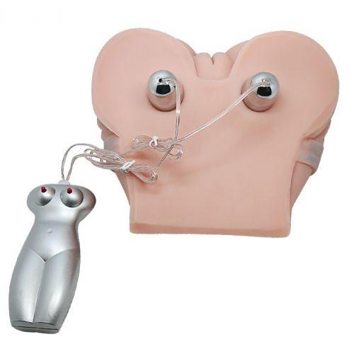 Мастурбатор анус с вагиной в позе доги стайл с двойной вибрацией и двумя входами