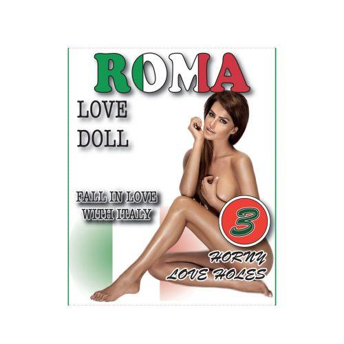 Надувная секс-кукла светлокожая шатенка Love Dols Roma