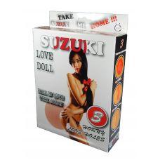 Надувная секс-кукла азиатка брюнетка Suzuki