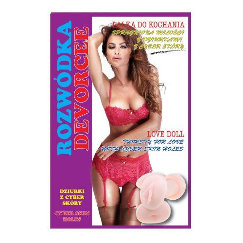Надувная секс-кукла светлокожая с рыжими волосами Devorcee