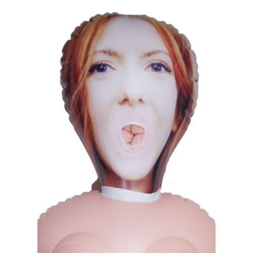 Надувная кукла для секса с вставной вагиной из киберкожи с вибрацией Devorcee
