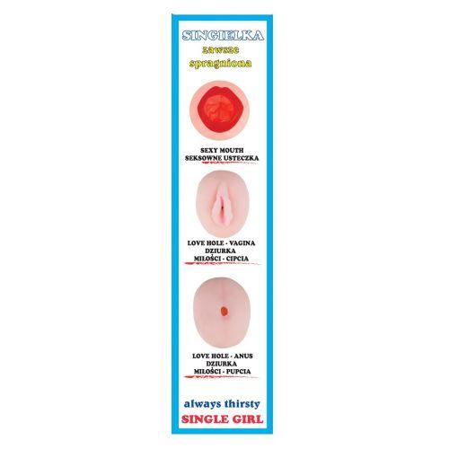 Надувная кукла для секса с вставной вагиной из киберкожи Singielka