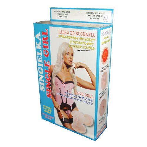 Надувная секс-кукла светлокожая блондинка Love Dols Singielka