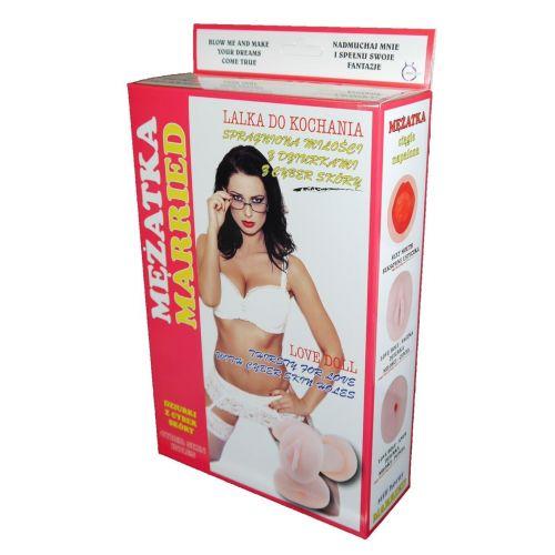 Резиновая секс кукла с вставной вагиной из киберкожи Married
