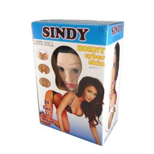 Надувная секс-кукла с вставкой из киберкожи и вибростимуляцией SINDY 3D