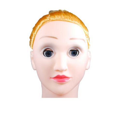 Резиновая секс-кукла светлокожая блондинка с вставной вагиной из киберкожи BARBI- 3D