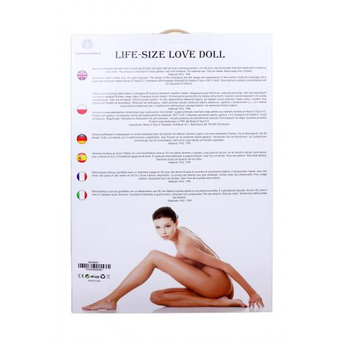 Надувная кукла для секса с вставкой из киберкожи и вибростимуляцией BOSS ANGELINA 3D