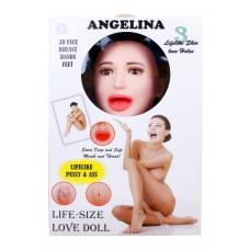 Надувная кукла BOSS ANGELINA 3D с вставкой из киберкожи и вибростимуляцией