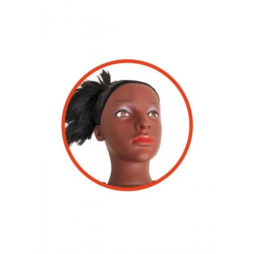 Резиновая кукла для секса с вставкой-вагиной из киберкожи и вибростимуляцией BOSS ALECIA 3D