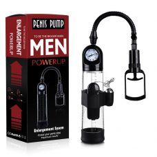 Вакуумная помпа для увеличения члена с вибрацией Powerpump MASTER Vibrating Black&Clear