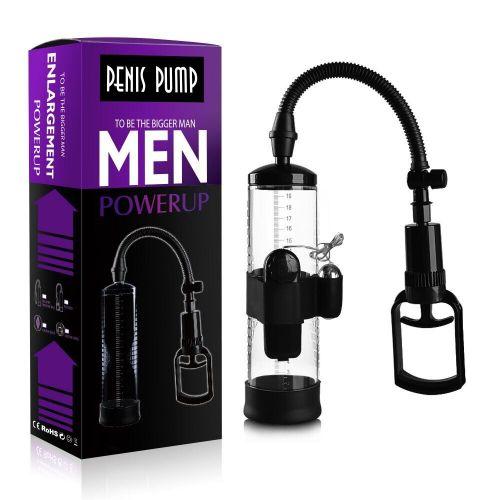 Вакуумная помпа для эрекции и увеличения пениса с вибрацией Powerpump MAX