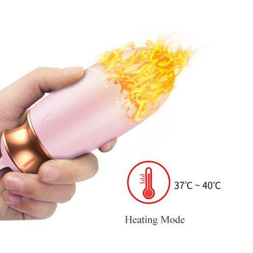 Виброяйцо с подогревом и пультом ДУ Vibrating Silicone Love EGG USB