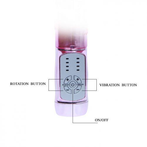 Вибратор с стимулятором клитора Throbbing Butterfly BW-037037