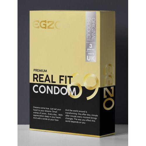 Плотнооблегающие эластичные презервативы универсального размера EGZO Real fit №3