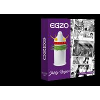 Насадка на член латексная двойная полоска усиков и шариков одноразовая EGZO Jolly Roger 1 шт Максимум Удовольствия со смазкой