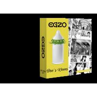 Насадка на пенис латексная с усиками и шариками одноразовая EGZO Bee`s knees 1 шт Максимум Удовольствия со смазкой