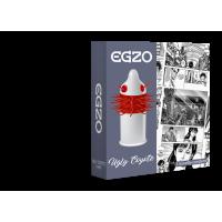 Насадка на пенис латексная тройная полоса усиков одноразовая EGZO Ugly Coyot 1 шт Максимум Удовольствия со смазкой