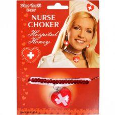 Колье медсестры красное для ролевых игр