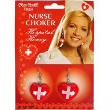 Серьги медсестры красные для ролевых игр