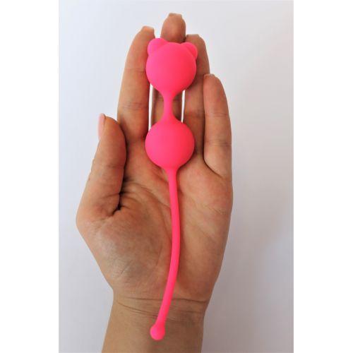Шарики вагинальные силиконовые для Опытных Женщин COSMO розовый неон D 2,7 см L 8 см
