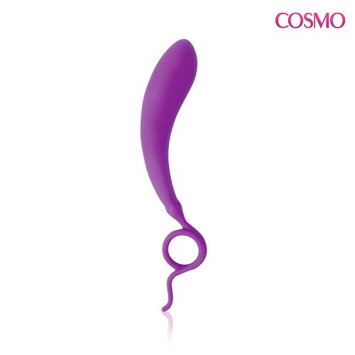Стимулятор силиконовый Баклажанчик для точки G COSMO фиолетовый L 12 cм D 2,9 см