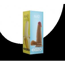 Фаллоимитатор 15 см/4 см реалистичный с яичками на присоске EGZO с запахом ванили из киберкожи