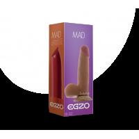 Фаллоимитатор 15 см/4 см реалистичный с яичками телесного цвета на присоске EGZO DS004 запах ванили из киберкожи