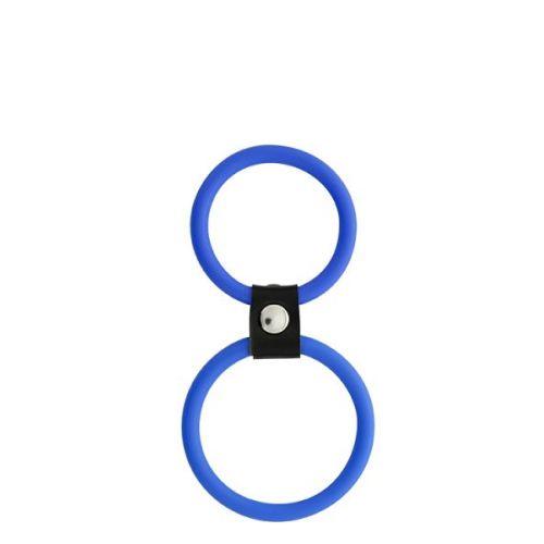 Двойное эрекционное кольцо для члена и мошонки MENZSTUFF DUAL RINGS