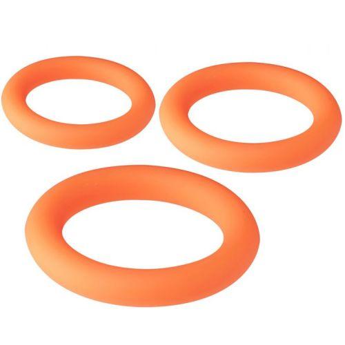 Набор эрекционных колец оранжевые NEON STIMU RING