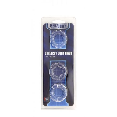 Кольцо MENZSTUFF STRETCHY COCK RINGS, CLEAR