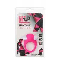 Эрекционное кольцо с вибростимуляцией клитора розовое LIT-UP SILICONE STIMU RING 6