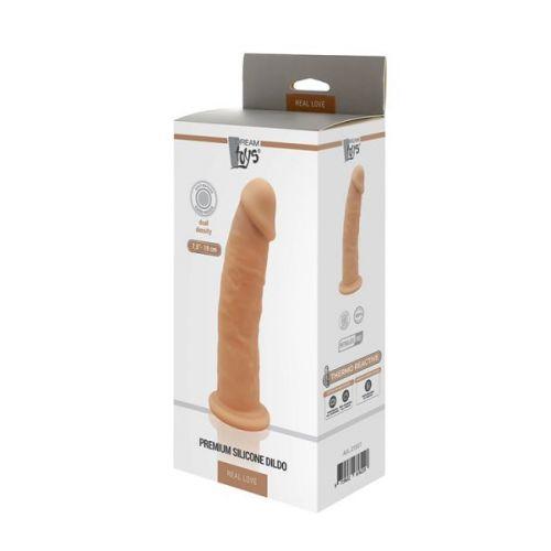 Фаллоимитатор реалистик на присоске с подогревом телесного цвета REAL LOVE 7.5 inch
