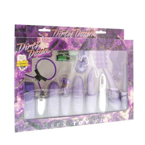Набор секс игрушек фиолетовый DIRTY DOZEN SEX TOY KIT