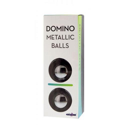 Шарики вагинальные DOMINO METALLIC BALLS, CHROME BLACK