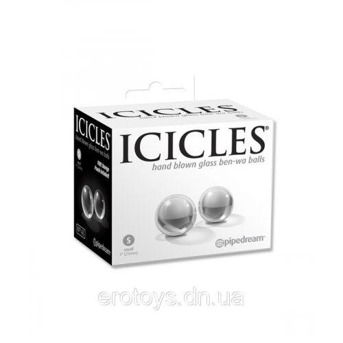 Шарики для вагины из стекла Icicles Nº 41 - S