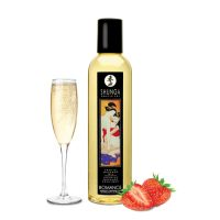 Массажное масло расслабляющее с ароматом клубники и вина Shunga Romance 250 мл
