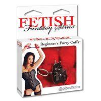 Мягкие наручники красного цвета Fetish Fantasy Series Beginner's Furry Cuffs