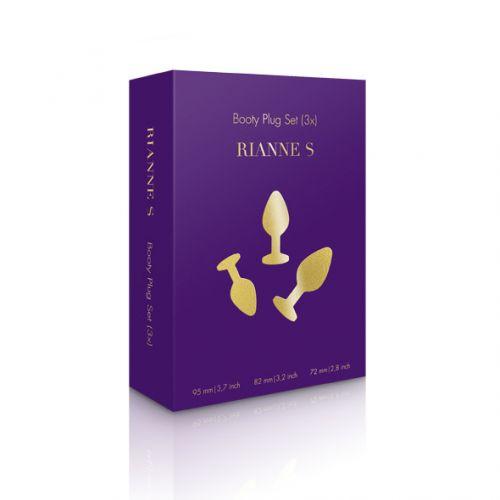 Комплект анальных пробок со стразами - Rianne S Booty Plug Set
