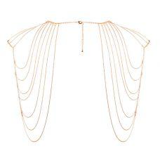 Дизайнерская портупея Bijoux Indiscrets Magnifique Shoulder Jewelry Gold