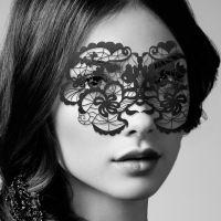 Кружевная маска БДСМ для глаз Bijoux Indiscrets Eye Mask Anna