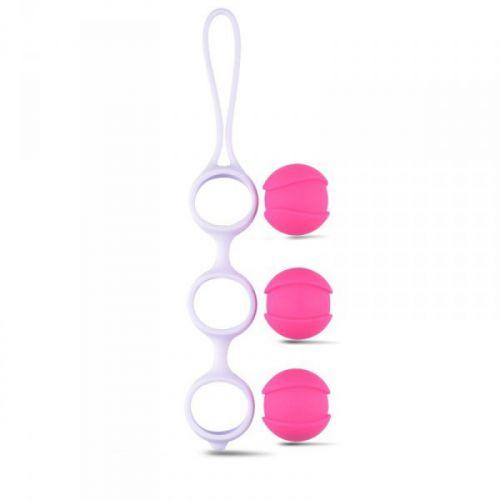 Комплект вагинальных шариков для тренировки мышц влагалища Vaginal Balls Bi-Balls Triple White