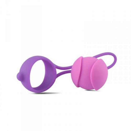 Комплект вагинальных шариков для тренировки мышц влагалища Vaginal Balls Bi-Balls Single Purple
