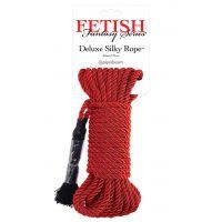 Шелковая веревка красная для фиксации во время секса БДСМ Fetish Fantasy Series Deluxe Silky Rope Red