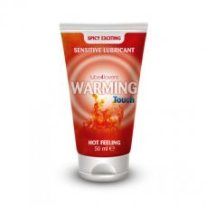 Возбуждающее массажное масло-лубрикант с согревающим эффектом Warming Touch Hot Feeling 50 ml