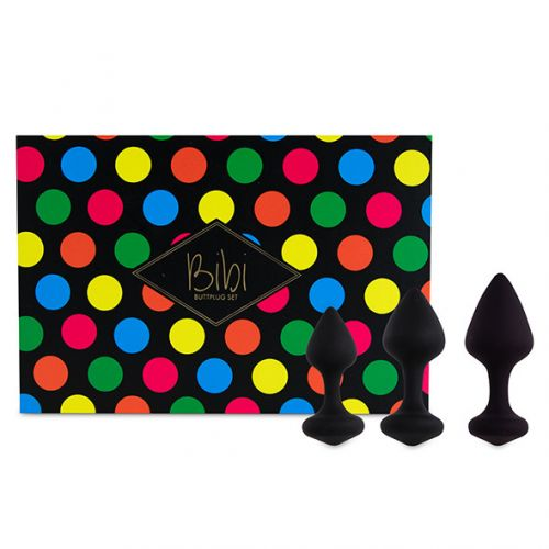 Комплект анальных пробок FeelzToys Bibi Butt Plug Set 3 pcs Black