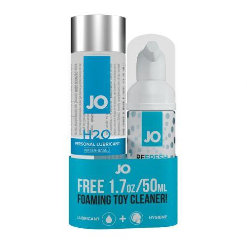 Лубрикант на водной основе System JO H2O Lubricant 120 ml + Чистящее для секс игрушек System JO Toy Cleaner 50 ml