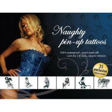 Временное тату Tattoo Set - Naughty Pin-Up